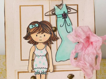 Color your own paper dolls notecard set!
